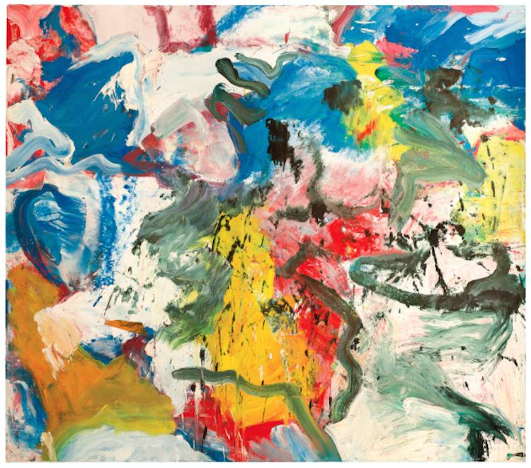 """WILLEM DE KOONING, Untitled V, 1975. Såldes på Sotheby's """"Contemporary evening"""", november 2013. Slagpris 181 000 000 SEK."""