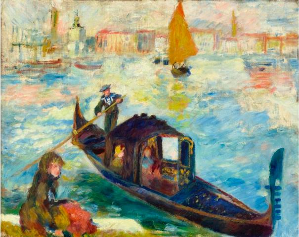 RENOIR, PIERRE-AUGUSTE (Limoges 1841 - 1919 Cagnes-sur-mer) Le Grand Canal, Venise (Gondole). 1881. Utropspris: 23 100 000 SEK. Koller