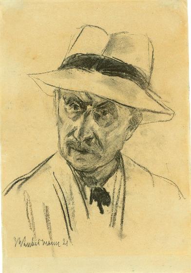 Max Liebermann, Autoportrait au panama, 1921 En vente le 30 novembre chez Grisebach Estimation: EUR 20 000 - 30 000
