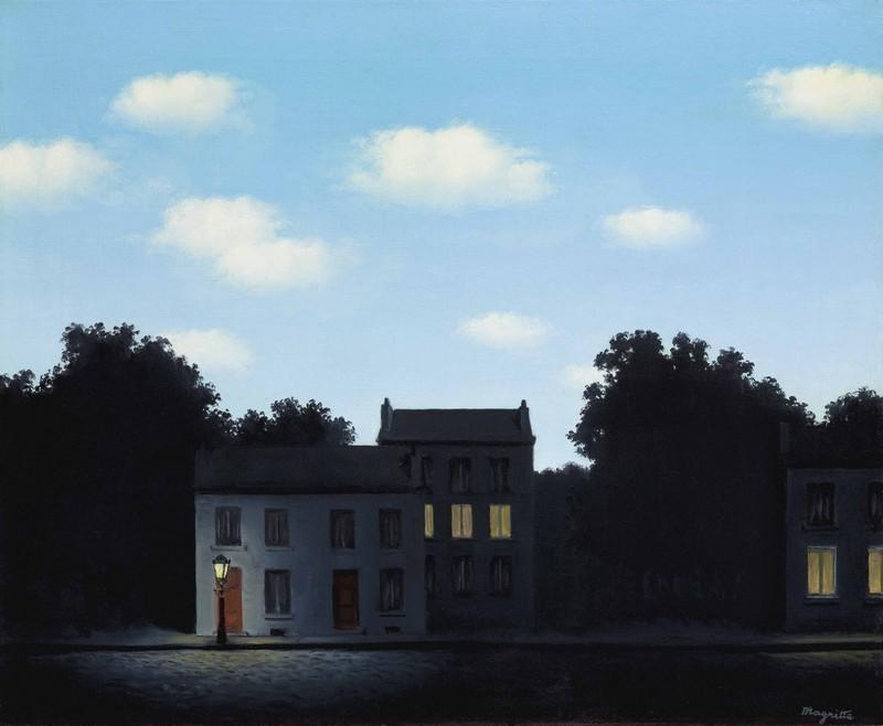 « L'Empire des lumières », (1949) vendu en 2017 pour 15,700,000 GBP chez Christie's, image via Christie's.