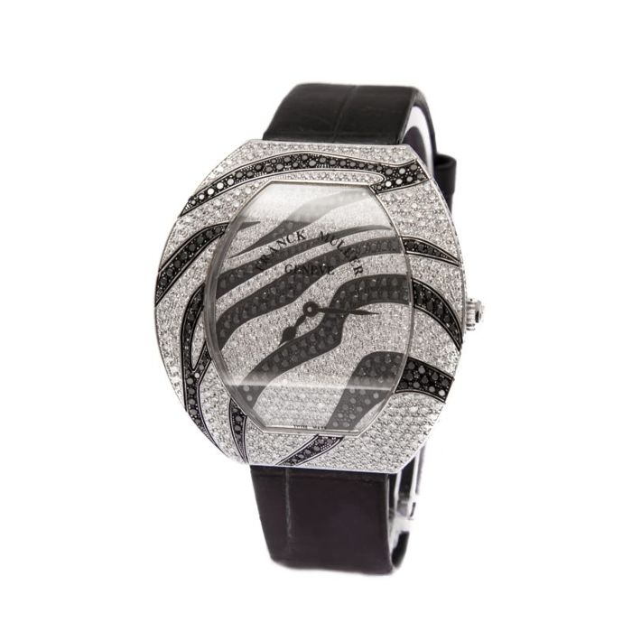 Franck Muller Infinity series zebra 3545, 2011. White gold with diamonds