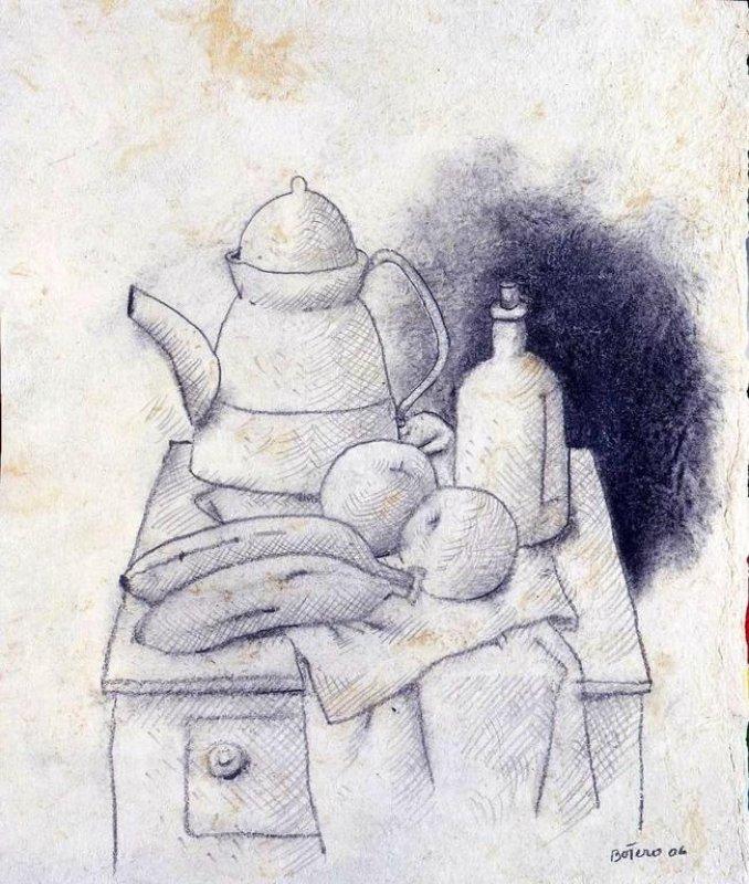 Fernando Botero, Naturaleza Muerta con Sandia, 1997.