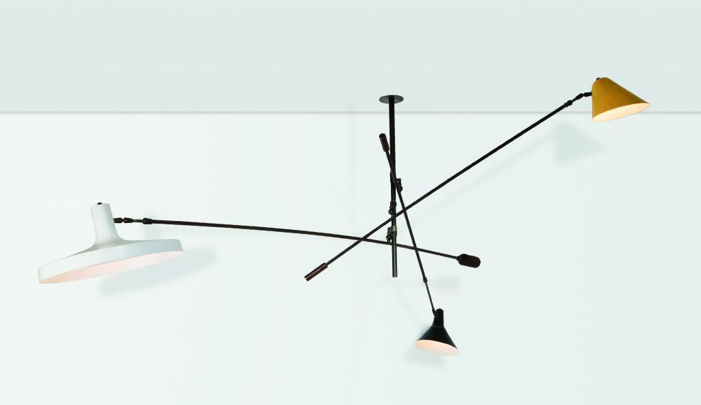 Stilnovo, lampe extensible et ajustable, production italienne, vers 1950, image ©Cambi Casa d'Aste