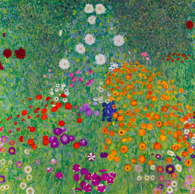 Gustav Klimt, Bauerngarten, 1907 Abb.: Sotheby's