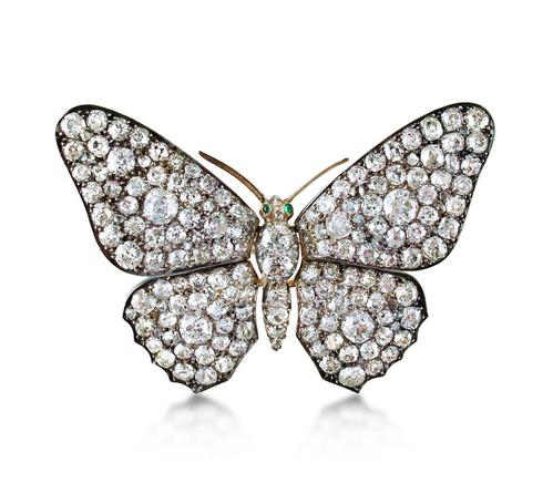 Broche papillon diamants Prix sur demande Humphrey Butler