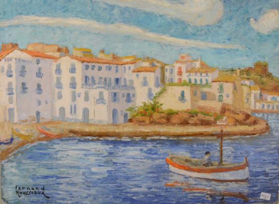 Bord de mer à Cadaques, Fernand Rousseaux Rops