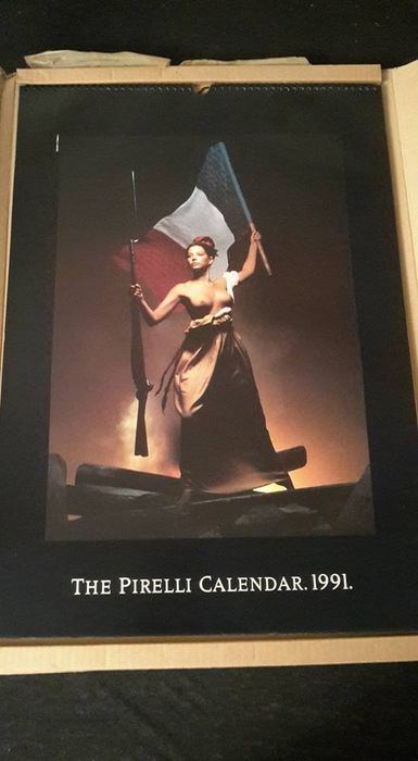 Titelblatt des Pirelli-Kalenders 1991. Fotograf: Clive Arrowsmith