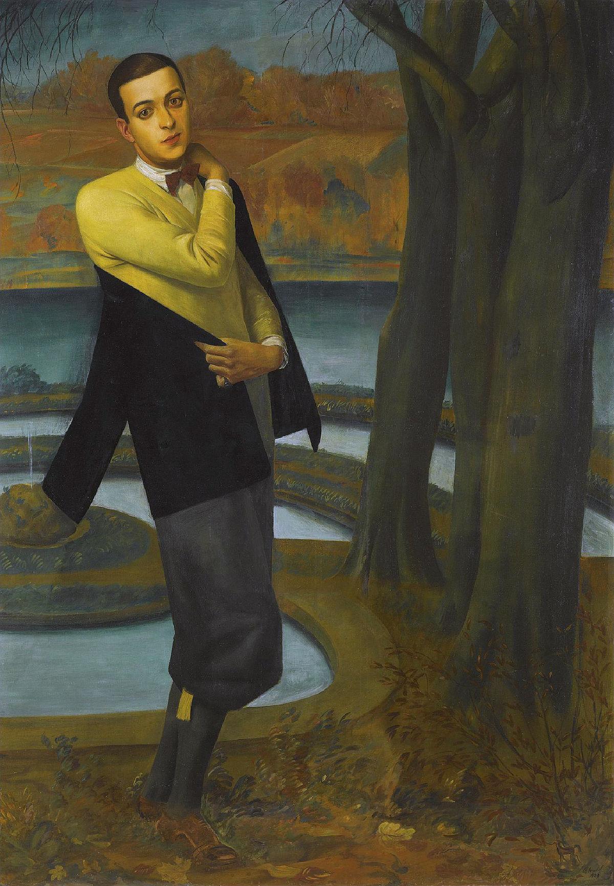 Portrait d'Arturo López Willshaw (détail), par Alexandre Iacovleff (1923) Image: Sotheby's, domaine public