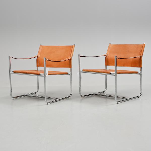 """Fåtöljer, """"Amiral"""", Karin Mobring för Ikea, 1970-tal. Slutpris: 16 150 kronor, Bukowskis Market, 2015."""