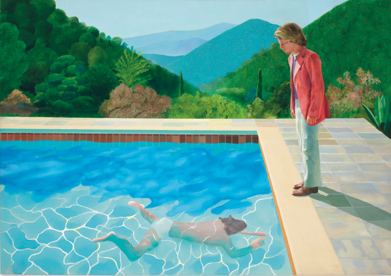 David Hockney, Portrait of an Artist (Pool with two Figures), image © Christie's
