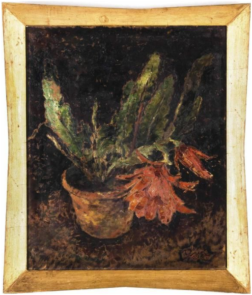 WILHELM NIKOLAUS PRACHENSKY (1898 -1956), Cactus flor roja