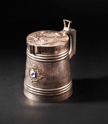 Jubilee silver tankard Starting bid: $32 000
