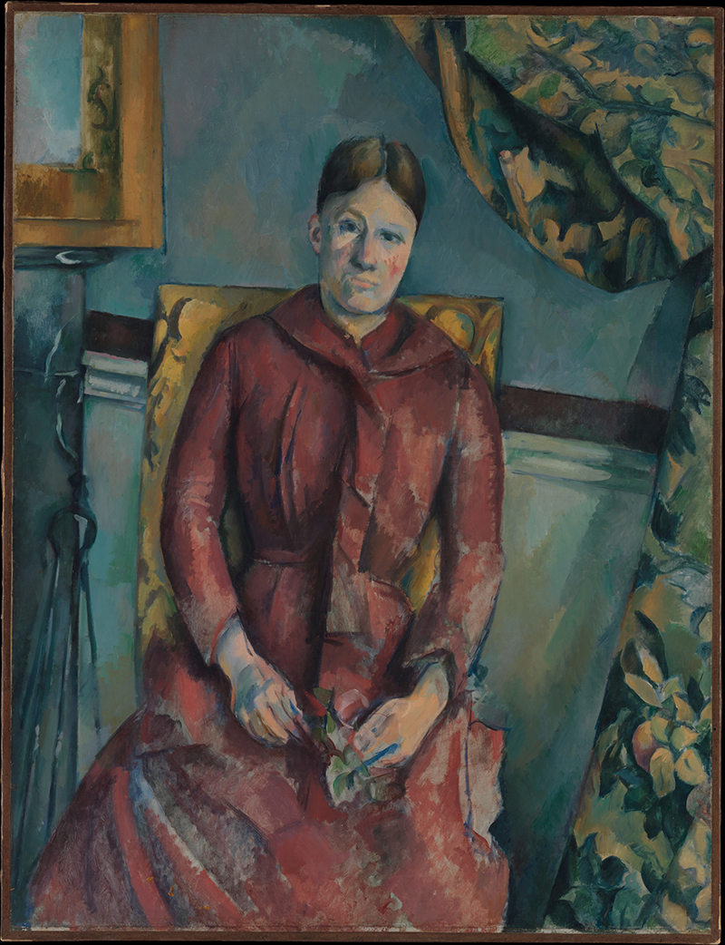 Paul Cézanne, Madame Cézanne in a Red Dress, 1888–90 Foto: The Metropolitan Museum of Art, New York
