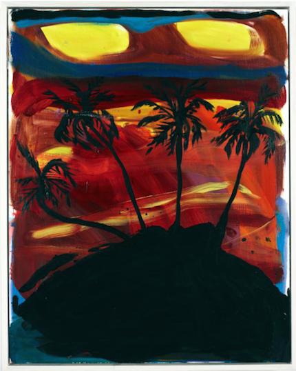 """Den japanske konstnären Josh Smith finns representerad med verket """"Untitled"""" från 2014. Josh var bland annat utställd på Vendigbiennalen 2011 och på MoMa i New York"""