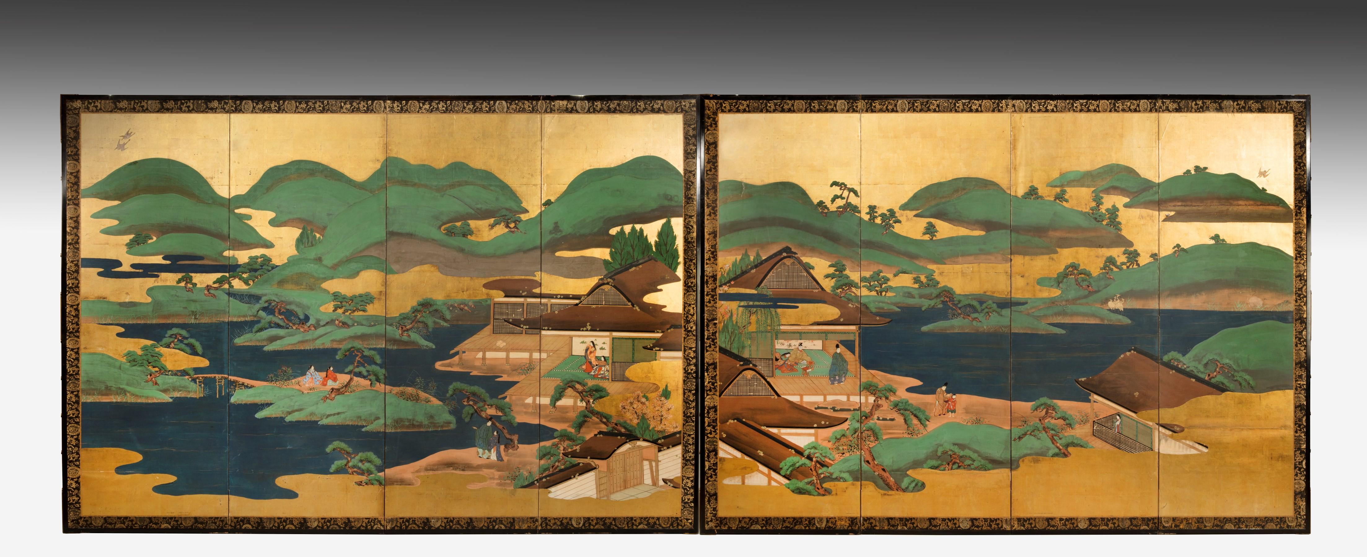 Pair of Japanese screens (c.1830)