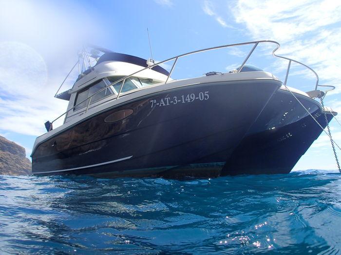 """Catamarán motorizado """"EXCITECAT 810 Fly"""" (2005). Precio estimado: entre 75.000 y 97.500 €"""