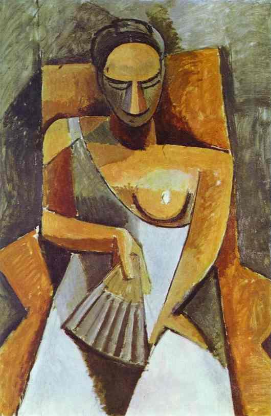 """""""Espagnole à l'éventail"""" de Pablo Picasso, l'un des deux tableaux vendus."""