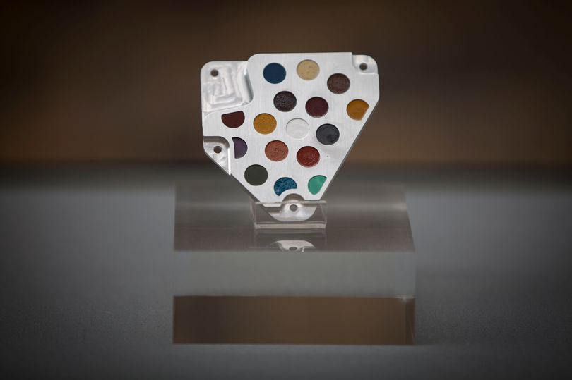 Earth replica of the Beagle 2 Calibration Device, designed by Damien Hirst, image © David Johnson