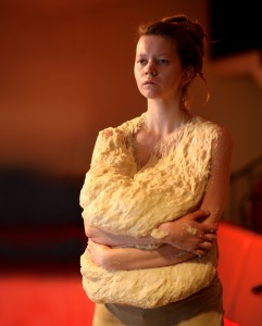 Promotion picture 2017. Heidi Edström [ingentinget], 'Cumbersome Dough', performance. Photo, Joakim Erixon Flodman.