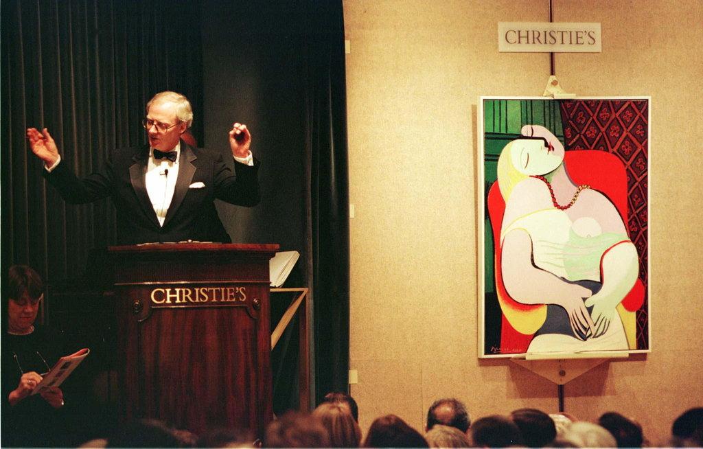 Picasso, « Le Rêve » vendu chez Christie's en 1997, Photo ©Mike Segar/Reuters
