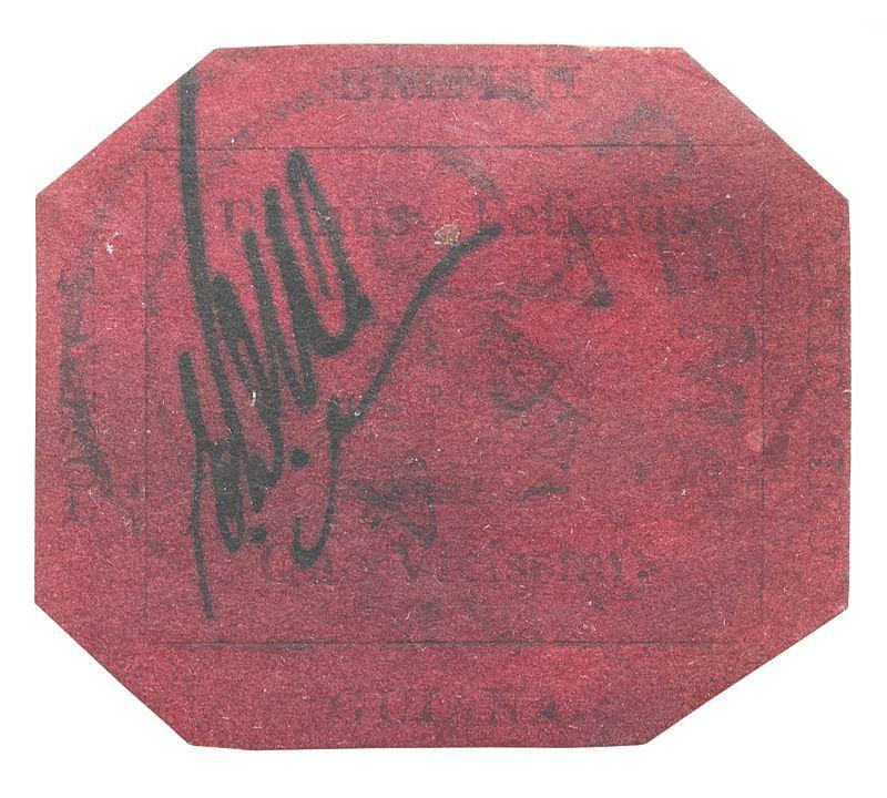 Die British Guiana 1c Magenta von 1856 ist die teuerste Briefmarke der Welt
