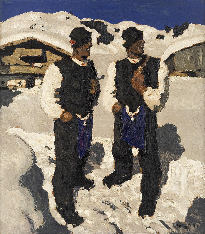 Alfons Walde (Austria 1891-1958) Bauernsonntag. Estimate: $200,000-300,000.