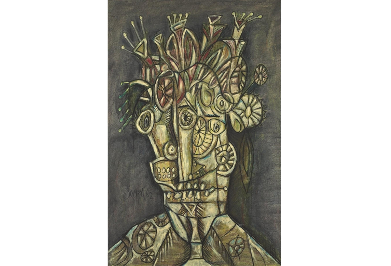 Francis Newton Souza, Untitled (Large Head) , adjugé pour 1, 290 000 euros ©Christie's