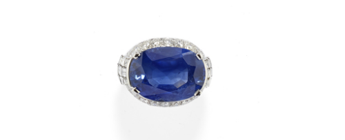 Bague Bulgari or blanc, saphir et diamants Estimation: 200.000-300.000 EUR