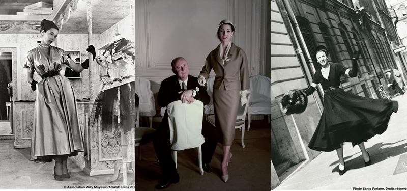 Christian Dior entre sus creaciones