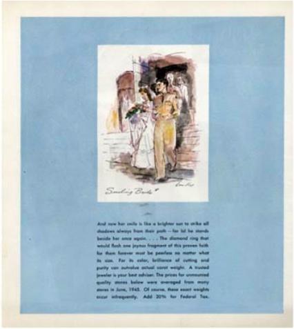 """Die erste Werbung mit der Zeile """"A diamond is forever"""" von 1947 Abb: debeers.com"""