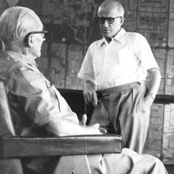 Le Corbusier (links) und Pierre Jeanneret | Foto via marieclaire.fr