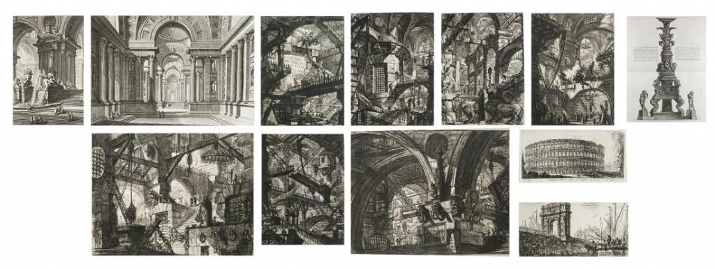Giovanni Battista Piranesi - Opere Varie di Architettura, Prospettive, Groteschi, Antichita sul gusto degli antichi Romani ... , Rom, o.D., 1750