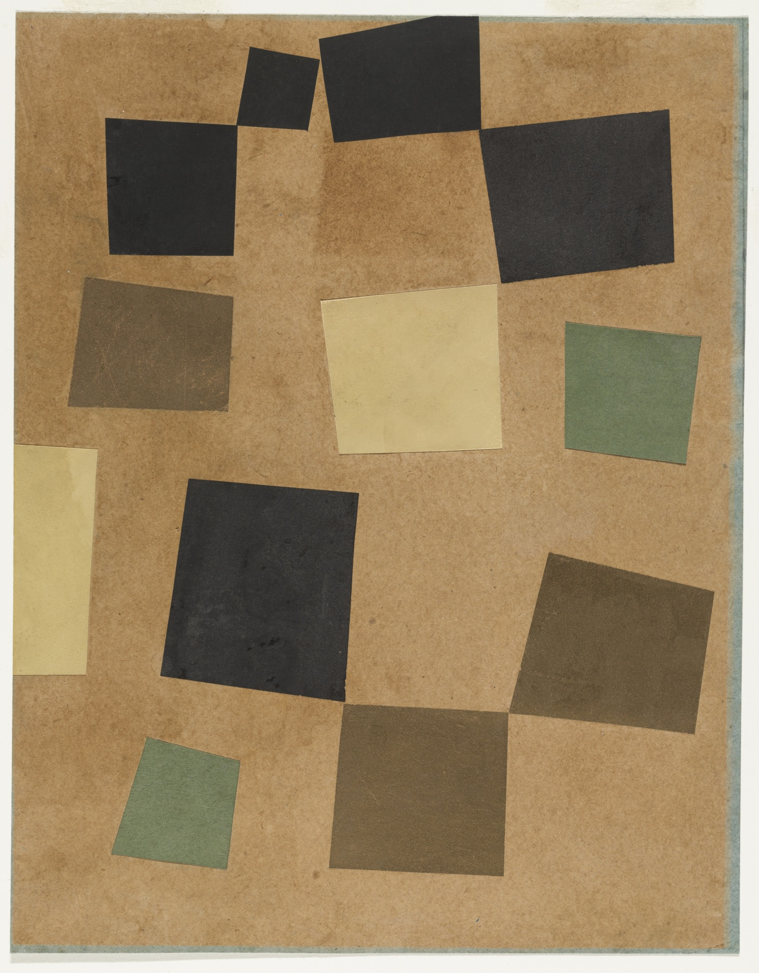 Hans Arp, Untitled (Squares Arranged According to the Laws of Chance) 1917. Bild: MoMa