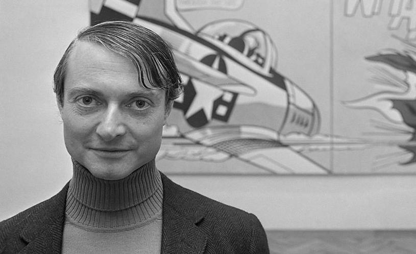 Portrait de Roy Lichtenstein. Photo via Ceramica Flaminia