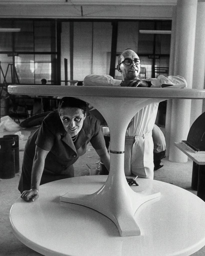 Kartells grundare Anna Castelli Ferrieri och Giulio Castelli. Foto: Kartell.