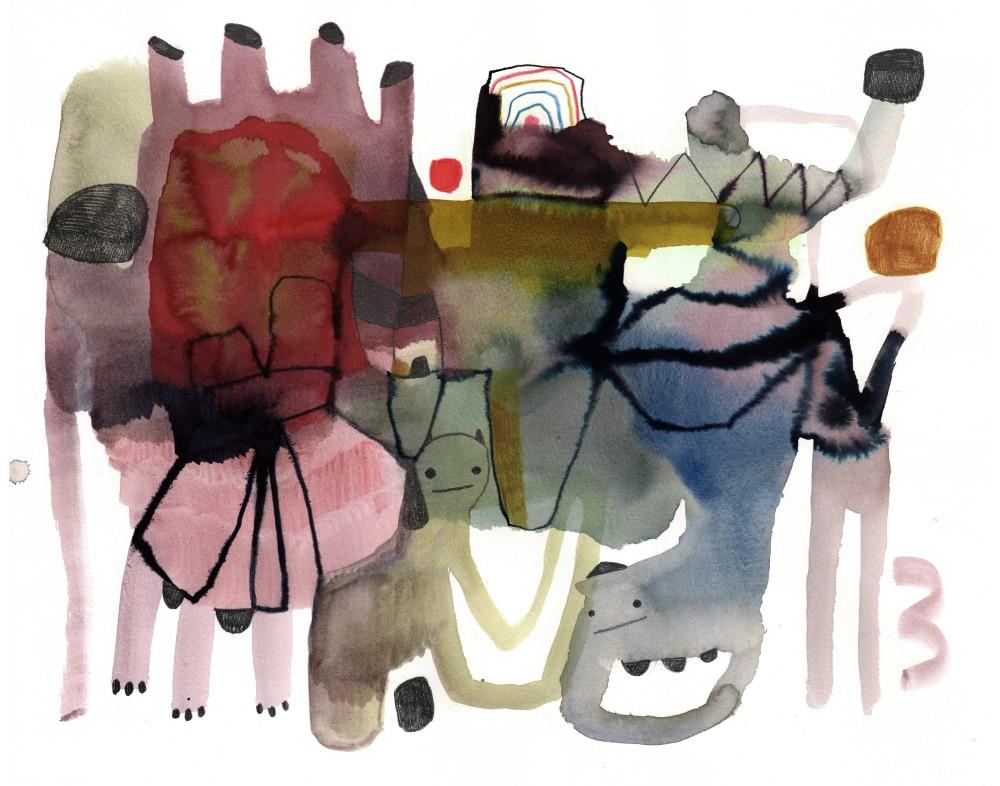 Galleri HelleKnudsen, Emma Larsson, Utan titel, 5500kr, Akvarell 78x62cm. Bild: Artely