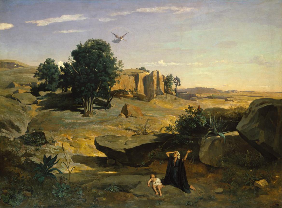 Jean-Baptiste Corot, « Agar dans le Désert », 1835