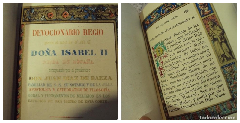 Devocionario Régio. Reina Isabel II. Ignacio Boix y Blay (1846)
