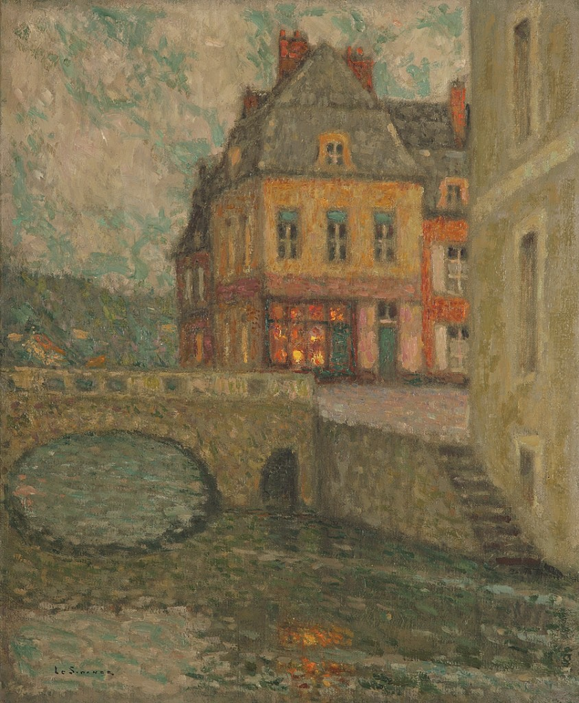 Henri le Sidaner, «Vue du canal de Douai», 1931, image ©Tajan