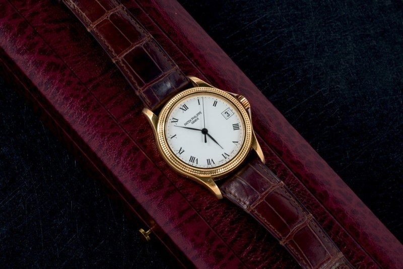 "Philippe Patek, model ""Calatrava"" in 18-carat yellow gold. Photo: Durán Arte y Subastas."