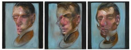 """Three studies for self-portrait"" 1980."