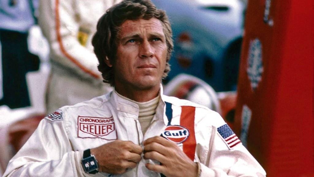 """Steve McQueen portant le chronographe TAG Heuer Monaco dans le film """"Le Mans"""""""