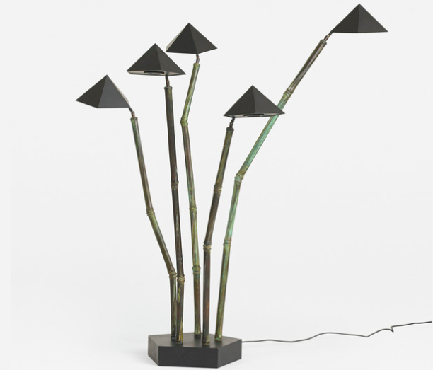 Kim Moltzer, golvlampa i bambu. Fast pris: 135 000 Sek. Wright Now