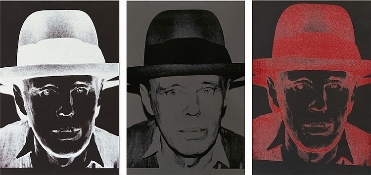 Andy Warhol, Joseph Beuys, 1980. Photo: Lempertz