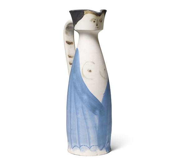 Pablo Picasso, Femme à la robe entrouverte, 1955 Image via Sotheby's