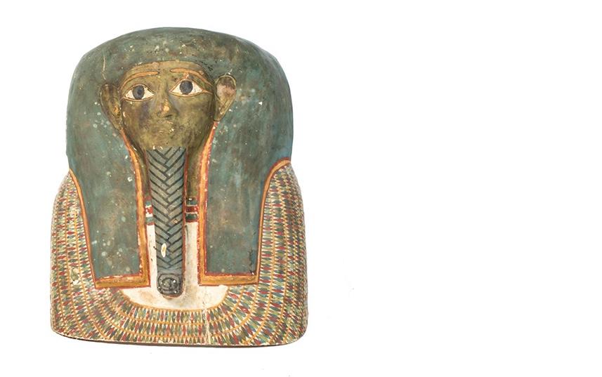 Sarkophagmaske, Ägypten, spätptolemäisch (2./1. Jh. v. Chr.)