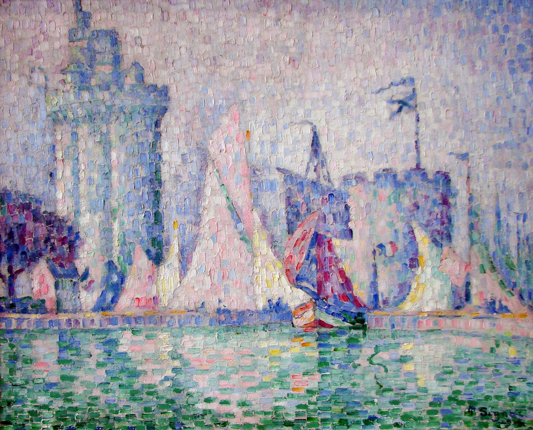 Le Port de La Rochelle, Paul Signac. 1915, oil on canvas. Image: Wikimedia Commons
