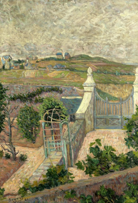 PAUL SIGNAC (1863 Paris – 1935 ebenda) - Saint Briac, de ma fenetre, Öl/Lwd., 65 x 45 cm, signiert, 1885 Schätzpreis: 330.000-360.000 EUR