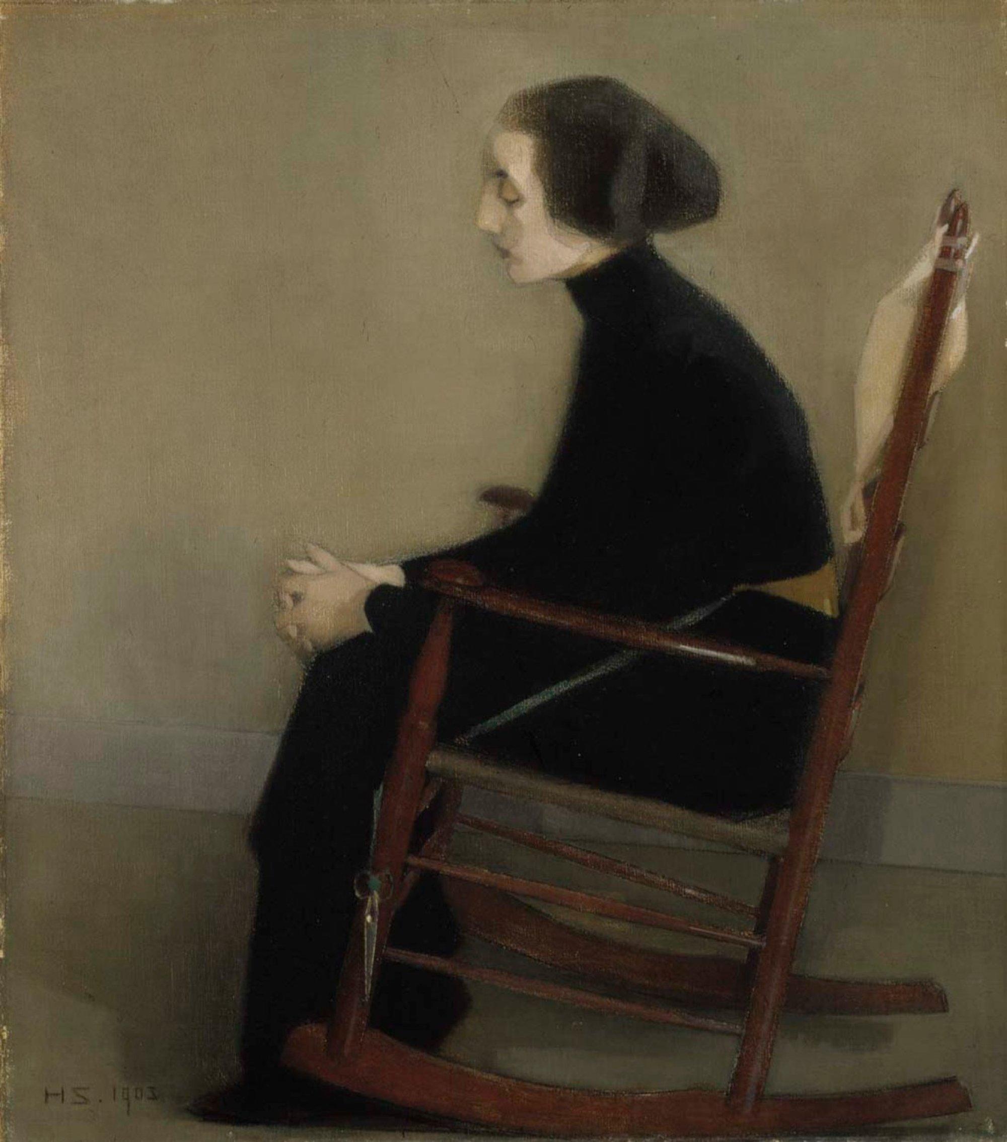 The Seamstress (The Working Woman) från 1905. Bild: Europeana