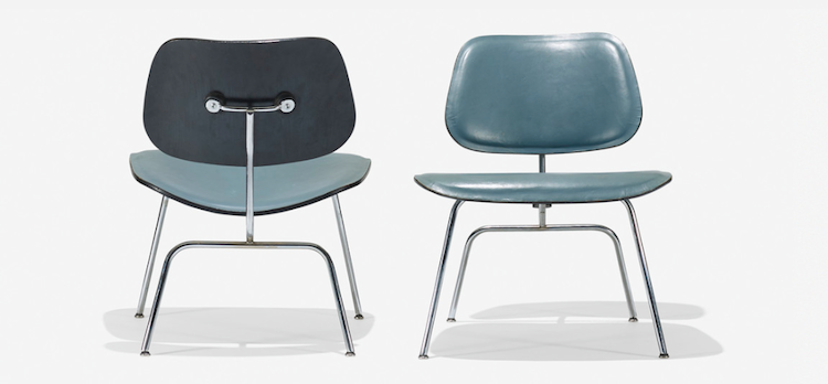 CHARLES AND RAY EAMES. Rare LCMs, pair. Herman Miller, USA 1946. Low estimate $ 5.000
